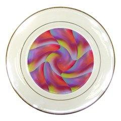 Colored Swirls Porcelain Display Plate