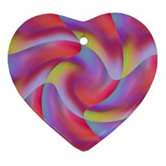 Colored Swirls Heart Ornament (Two Sides)