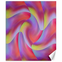 Colored Swirls Canvas 8  x 10  (Unframed)