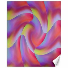 Colored Swirls Canvas 16  x 20  (Unframed)