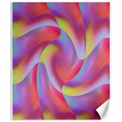 Colored Swirls Canvas 20  x 24  (Unframed)