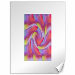 Colored Swirls Canvas 36  X 48  (unframed)