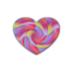 Colored Swirls Drink Coasters 4 Pack (Heart)