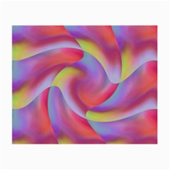 Colored Swirls Glasses Cloth (small, Two Sided)
