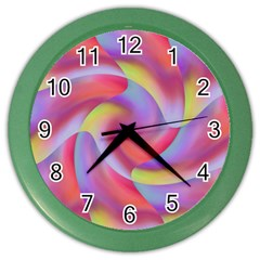 Colored Swirls Wall Clock (color)