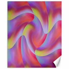 Colored Swirls Canvas 11  x 14  (Unframed)