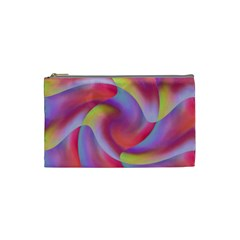 Colored Swirls Cosmetic Bag (Small)