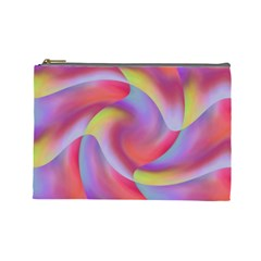 Colored Swirls Cosmetic Bag (Large)
