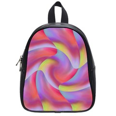 Colored Swirls School Bag (small)