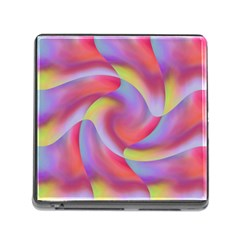 Colored Swirls Memory Card Reader with Storage (Square)