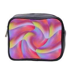 Colored Swirls Mini Travel Toiletry Bag (two Sides)