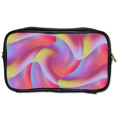 Colored Swirls Travel Toiletry Bag (One Side)
