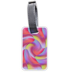 Colored Swirls Luggage Tag (One Side)
