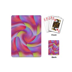 Colored Swirls Playing Cards (mini)