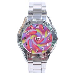 Colored Swirls Stainless Steel Watch