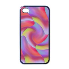 Colored Swirls Apple Iphone 4 Case (black)