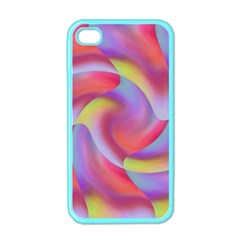 Colored Swirls Apple Iphone 4 Case (color)