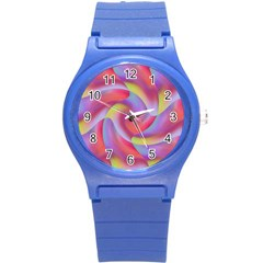 Colored Swirls Plastic Sport Watch (small)