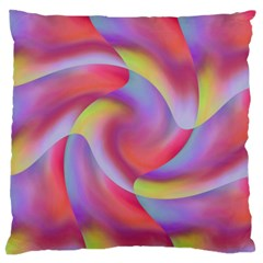 Colored Swirls Large Cushion Case (Two Sided)