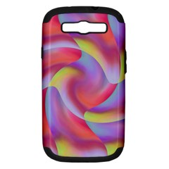 Colored Swirls Samsung Galaxy S III Hardshell Case (PC+Silicone)