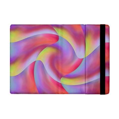 Colored Swirls Apple iPad Mini Flip Case