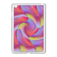 Colored Swirls Apple iPad Mini Case (White)
