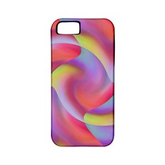 Colored Swirls Apple iPhone 5 Classic Hardshell Case (PC+Silicone)
