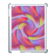 Colored Swirls Apple iPad 3/4 Case (White)