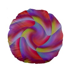 Colored Swirls 15  Premium Round Cushion