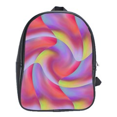 Colored Swirls School Bag (xl)