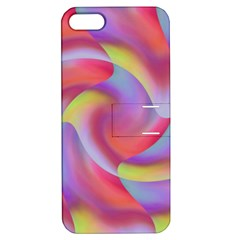 Colored Swirls Apple Iphone 5 Hardshell Case With Stand