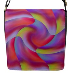 Colored Swirls Flap Closure Messenger Bag (Small)