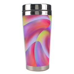 Colored Swirls Stainless Steel Travel Tumbler