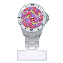 Colored Swirls Nurses Watch