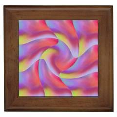 Colored Swirls Framed Ceramic Tile