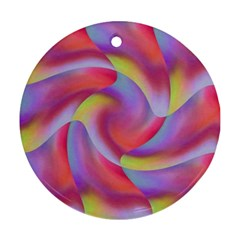 Colored Swirls Round Ornament