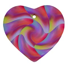Colored Swirls Heart Ornament