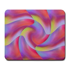 Colored Swirls Large Mouse Pad (Rectangle)