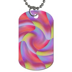 Colored Swirls Dog Tag (one Sided)