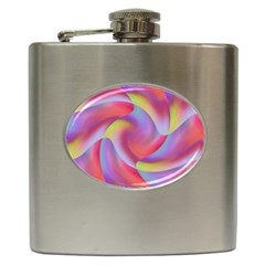 Colored Swirls Hip Flask
