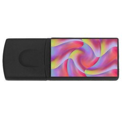 Colored Swirls 2GB USB Flash Drive (Rectangle)