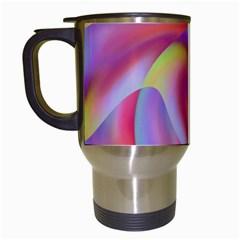 Colored Swirls Travel Mug (White)