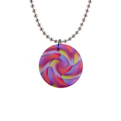 Colored Swirls Button Necklace