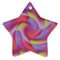 Colored Swirls Star Ornament (Two Sides)
