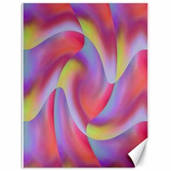 Colored Swirls Canvas 18  x 24  (Unframed)
