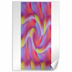 Colored Swirls Canvas 24  x 36  (Unframed)