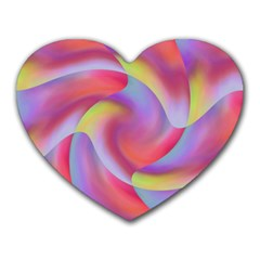 Colored Swirls Mouse Pad (Heart)