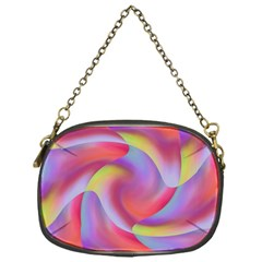 Colored Swirls Chain Purse (one Side)