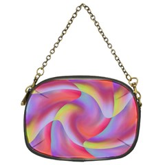 Colored Swirls Chain Purse (Two Sided)