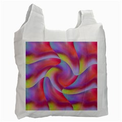 Colored Swirls Recycle Bag (Two Sides)